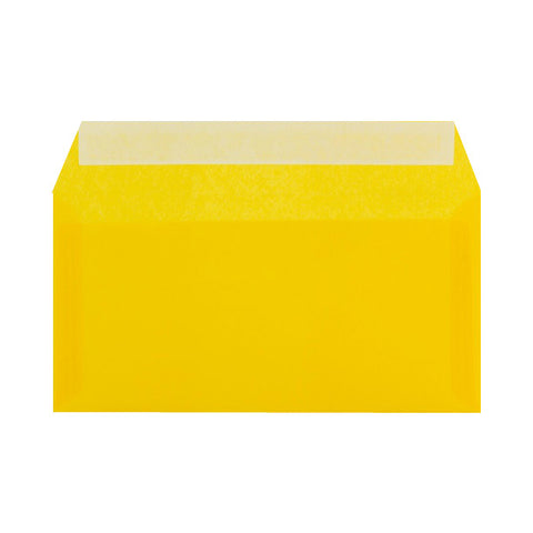 Yellow Translucent Wallet Peel & Seal - Envelope Kings