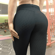 Load image into Gallery viewer, Black Anti Cellulite Leggings