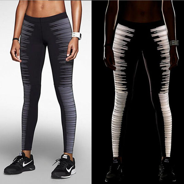 Lightning Streak Reflective Jogging Leggings