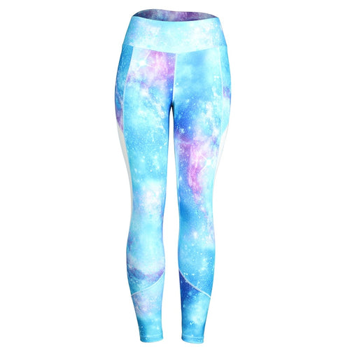 Sky Blue Galaxy Leggings