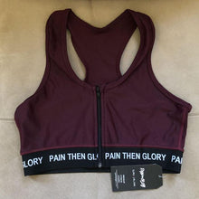 Load image into Gallery viewer, Maroon Leggings & Zip Up Sports Bra