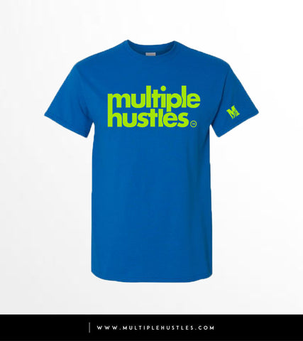 MH Royal Blue/Lime Green Trademark Tee