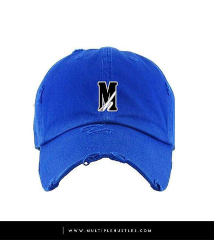 "Royal Blue Distressed ""Logo"" Dad Hat"