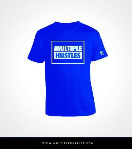 MH Box Tee Royal Blue/White