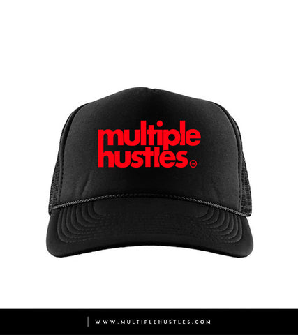 "Black/Red ""Trucker"" Hat"