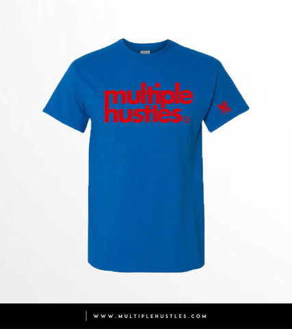 MH Royal Blue/Red Trademark Tee