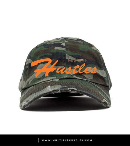 "Camo Orange Distressed ""Dad"" Hat"