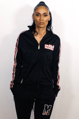 Ladies Black/Pink Tracksuit