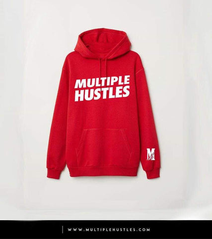 Men's MH Red/White Slant Hoodie