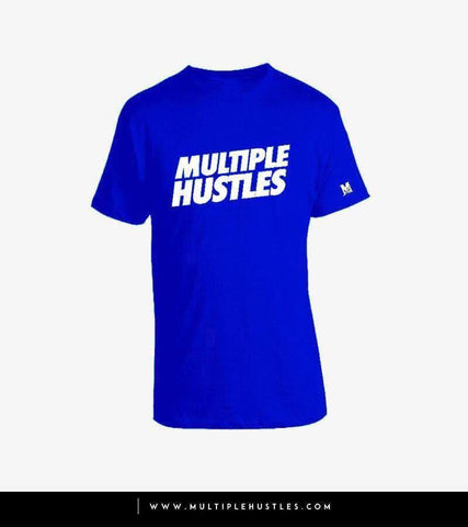 MH Slant Tee Royal Blue/White
