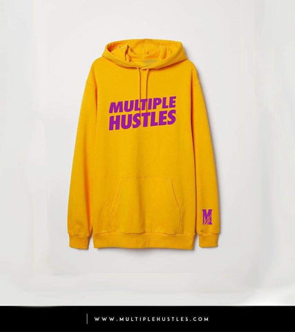 Men's MH Yellow/Purple Slant Hoodie