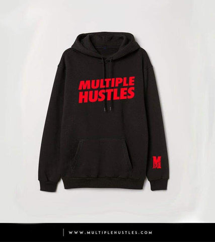 Men's MH Black/Red Slant Hoodie