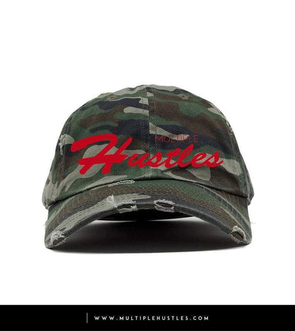"Camo Red Distressed ""Dad"" Hat"