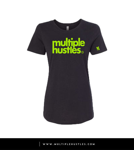MH Black/Lime Green Women's Trademark Tee