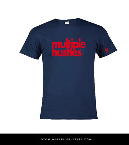 MH Navy Blue/Red Trademark Tee