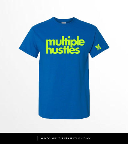 MH Royal blue/Lime Green Tee