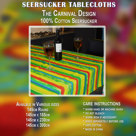 Cotton 100% Seersucker Tablecloths