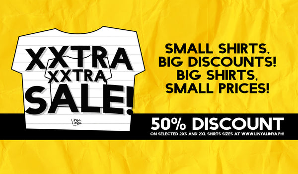 EXTRA, EXTRA: IT'S BACK! 50% OFF ON LINYA-LINYA SHIRTS!