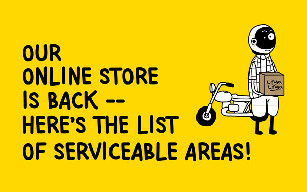 Our online store is back— here's the list of serviceable areas!