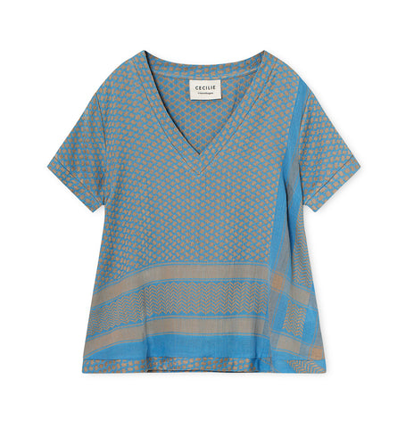 Cecilie Copenhagen | SHIRT V SHORT SLEEVES CLOUD