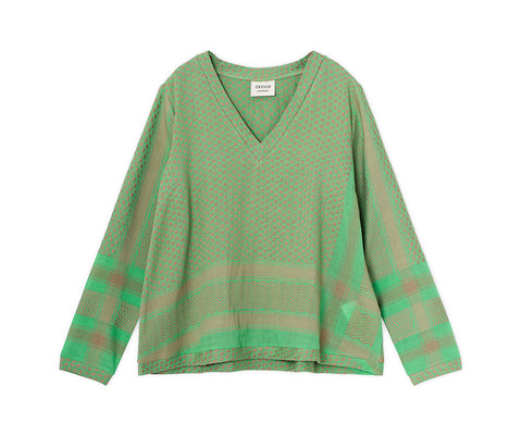 Cecilie Copenhagen | SHIRT V LONG SLEEVES MINTY