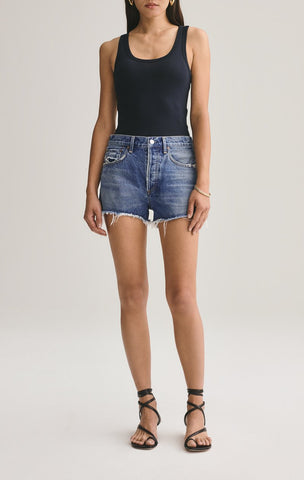 AGOLDE | PARKER VINTAGE CUT OFF SHORT IN LOWKEY
