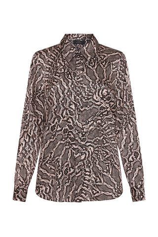 LUXE DELUXE | LUXE SILK PRINT CLASSIC SHIRT