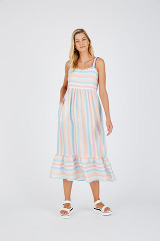 ALESSANDRA | DREAMER DRESS IN PASTEL RAINBOW
