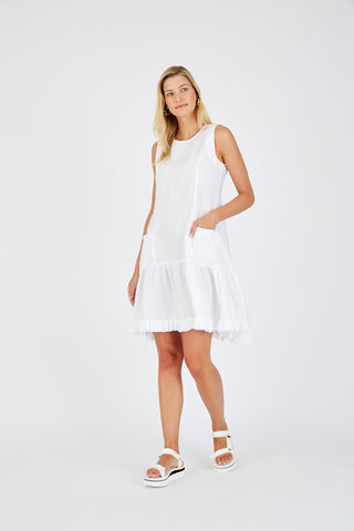 ALESSANDRA | POMPIDOU DRESS IN WHITE