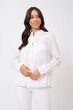 ALESSANDRA | LEILANI COTTON VOILE TOP IN WHITE