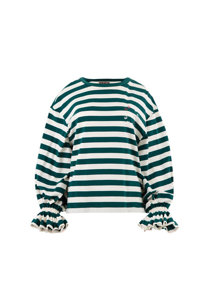 COOPER | SLEEVE IT UP TO YOU TOP GREEN