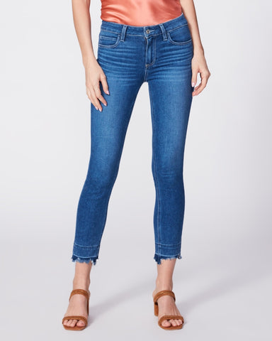 PAIGE DENIM | Skyline Skinny Crop Gig w/ Destructed Hem