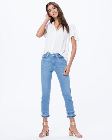 PAIGE DENIM | Hoxton Straight Crop Cabo
