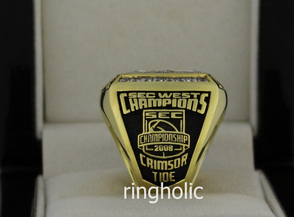 Alabama Crimson Tide Football 2008 SEC West Championship Rings - ringholic  - 5
