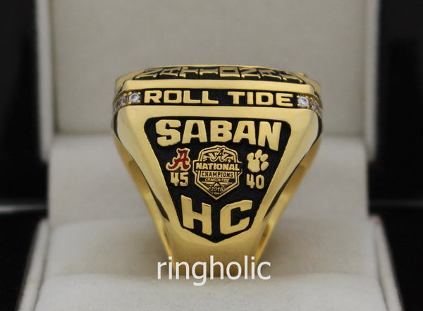 Alabama Crimson Tide Football 2015 National Championship Rings - ringholic - 4