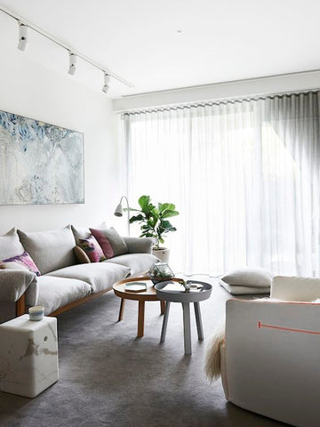 2018 interior design trends | Sheer draping | Tailored Space Interiors
