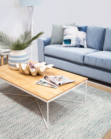 Living room rug styling | Floor rugs online at Tailored Space Interiors