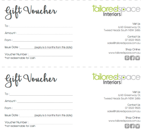 Christmas gift ideas for design lovers | Gold Coast homewares | Gift vouchers