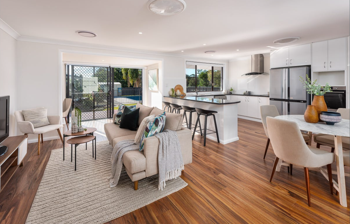 property-styling-qld-family-home-living-kitchen-dining-room