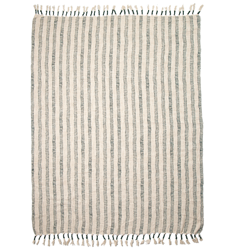 Hand woven 100% cotton throw