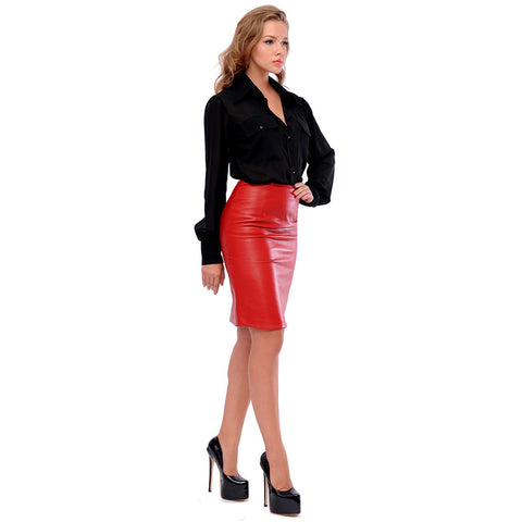 LAMB DEVIL leather skirt - The Little Black Dress Co.  - 1