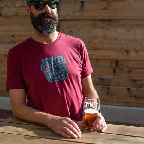 Mens State Of Craft Beer T-shirt - Cardinal