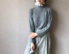 Tulle Turtleneck Top (Also Available in Black & White) (45,000원)