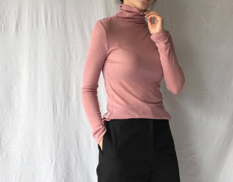 Wool Mix Turtleneck in Pink  (Available in 15 other colors) (42,000원)