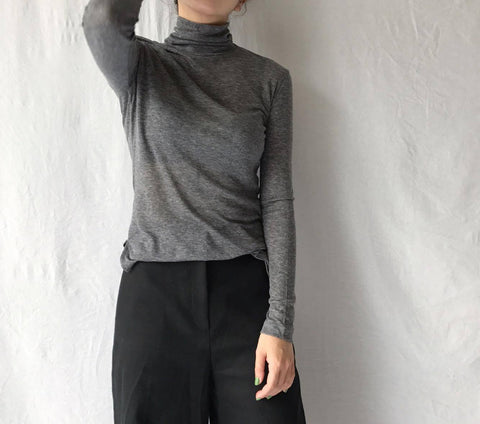 Wool Mix Turtleneck in Melange Grey (Available in 15 other colors) (42,000원)