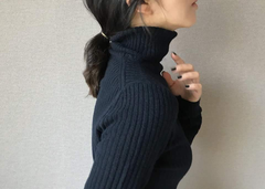 Wool+Cashmere Turtleneck Top (70,000원)
