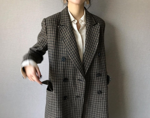 Double Button Coat with Belt  (190,000원)