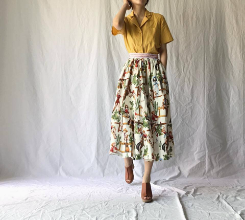 Cowboy Girl Skirt with Pockets (82,000원)