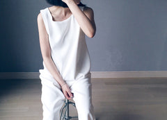 Wrap Jumpsuit in White (96,000원)