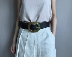 Big O Belt in Black (Also available in natural) (30,000원)
